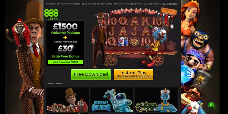 Treasure fair 888 bonuses