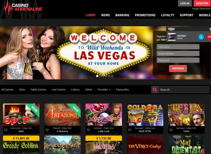 casino on line adrenaline
